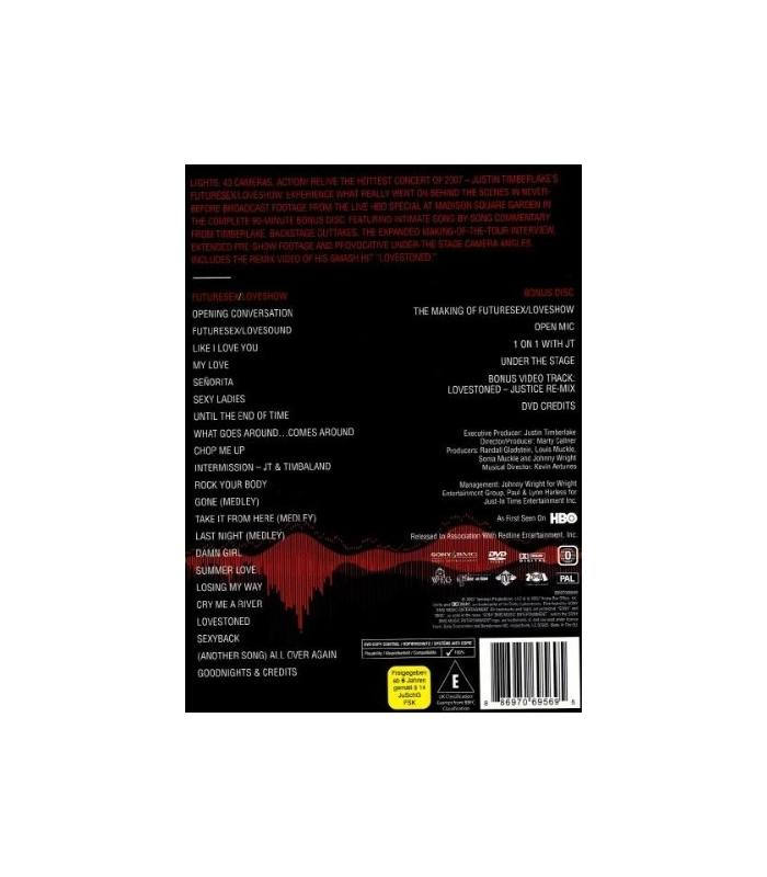 Future Sex Love Show Dvd 99