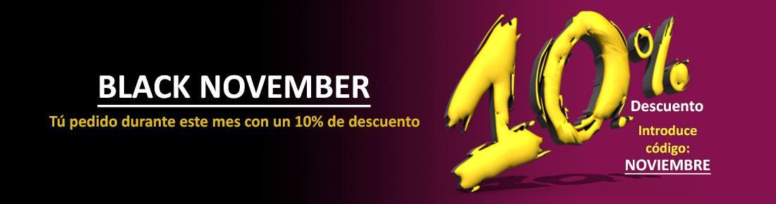 Black November. 10% Descuento en tu pedido